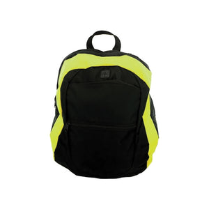 Black And Lime Canvas Backpack - Pack of 1