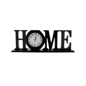 Bulk Buys Home Decorative Tabletop Wooden Mantle Clock Black Pack Of 1