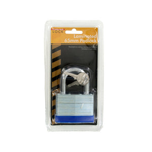 sterling OC569 Laminated Padlock, 65mm, Blue/Silver