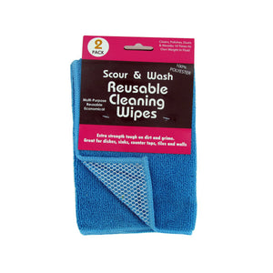Bulk Buys Home Scour And Wash Reusable Cleaning Wipes Set Pack Of 12