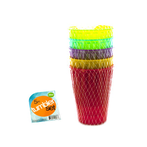 Medium Plastic Tumbler Pack - Set of 4