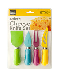 Handy Helpers Household Kitchen Tool Easy Grip Multi-Colored Cheese Knife Set - 4 Pack