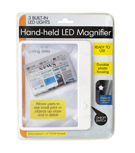 Hand-Held Led Magnifier - Pack of 12