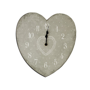 Kole OD965 Clock Heart Shape Wall Clock