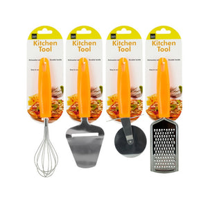 Kitchen Tool With Bright Orange Handle - Pack of 4