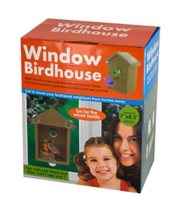Kole Imports OF431 Window Birdhouse with Clear Panel & Suction Cups