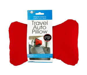 Sterling Travel Auto Pillow with Strap, Assorted Colors - 8-PK