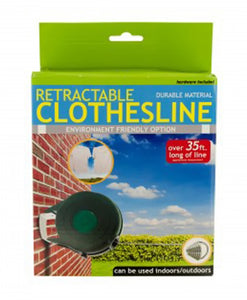 Bulk Buys Household Tool Indoor Outdoor Retractable Clothesline - 1 Pack