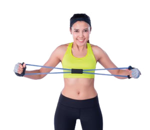 Portable Resistance Bands with Foam Handles (Available in a pack of 6)