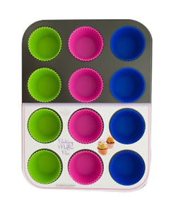 Bulk Buys Muffin Baking Pan with Silicone Cups