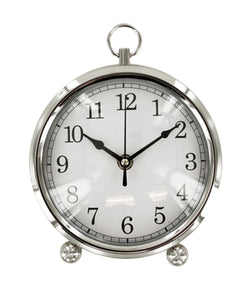 Kole OF543 Clock Silver Desk Clock