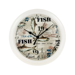 Bulk Buys Fishing Theme Clock - 4-PK