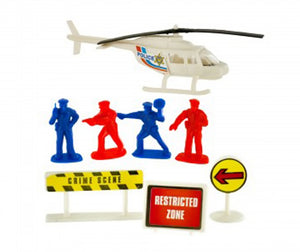Bulk Buys Police Action Figure Set - Pack of 12