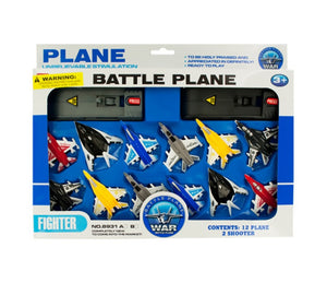 bulk buys Kids Toy Jet Fighter Planes with Launch Pads Set - Pack of 4