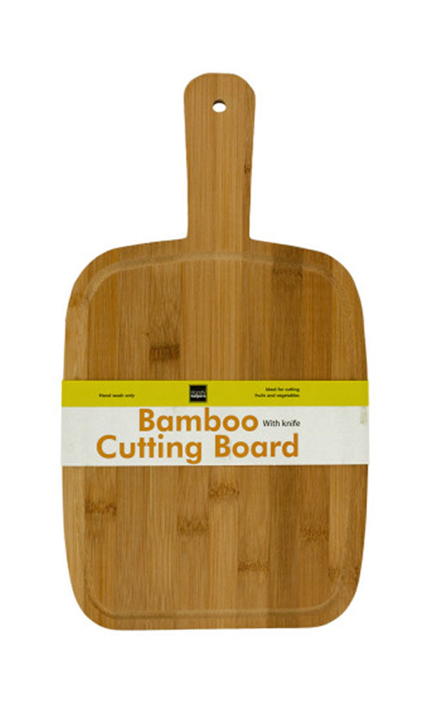 Paddle Style Bamboo Cutting Board - Pack of 4