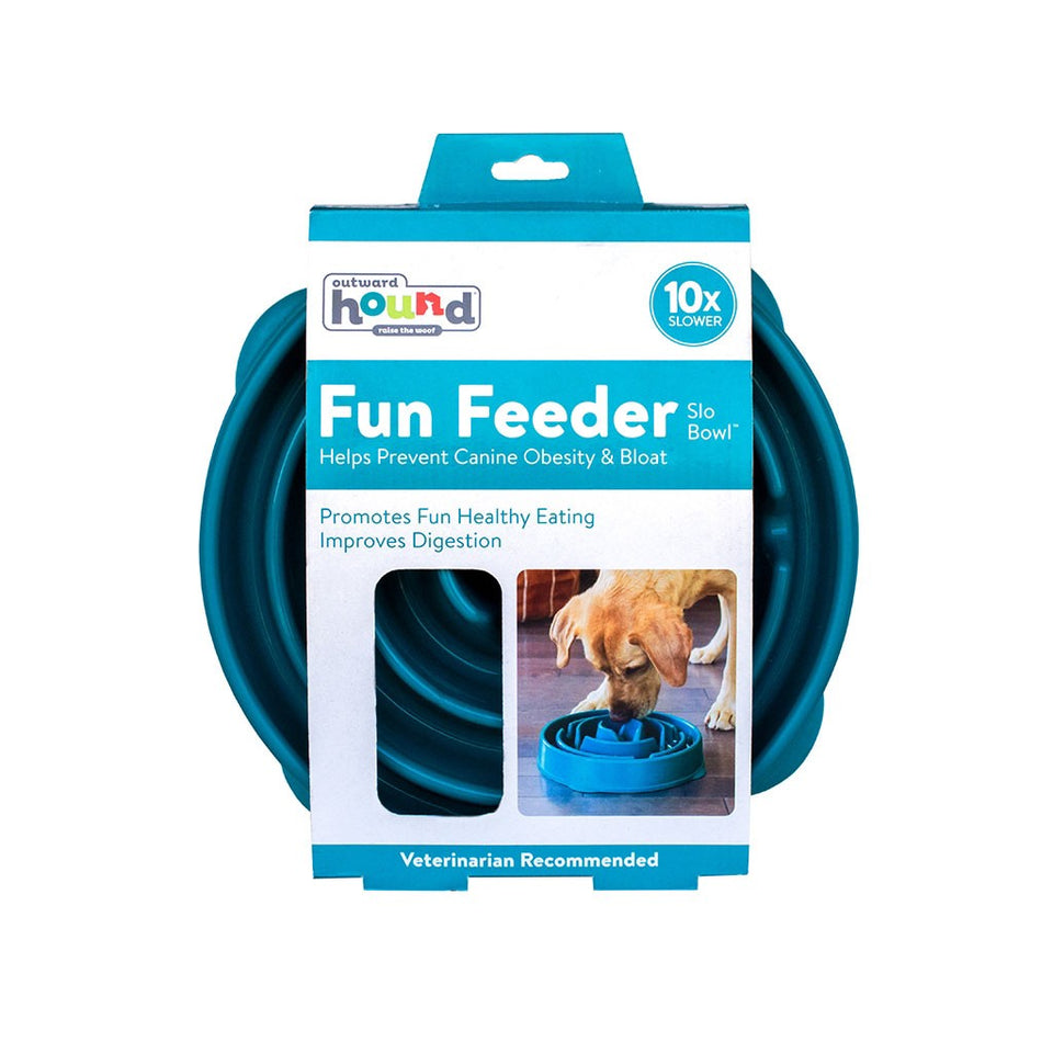 Fun Feeder Slo-Bowl Drop - Large - Teal