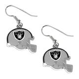 Sports Team Oakland Raiders J Hook Dangle Logo Earring Set