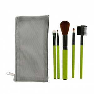 Cosmetic Brush Set With Mesh Zipper Case - Pack of 4