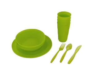 Bulk Buys OL277-1 Portable Dinnerware Set