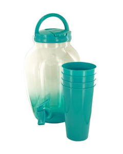 Kole Imports Beverage Dispenser Set with Cups