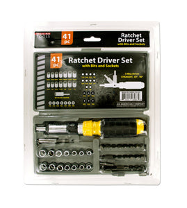 Ratchet Driver Set with Carrying Case - 4 Pack