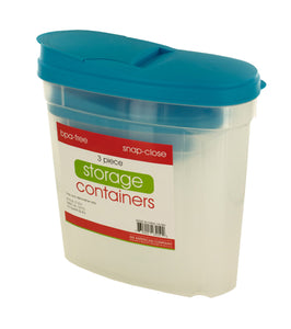 Kole Imports Pourable Food Storage Container Set, Regular