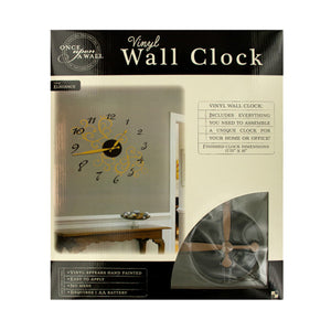 Elegance Vinyl Wall Clock - 2 Pack