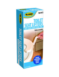 Self-Adhesive Toilet Seat Lifters - 12 Pack