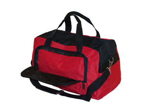 Bulk Buys Home Decor Red Black Duffle Bag with Zipper Pockets - 4 Pack
