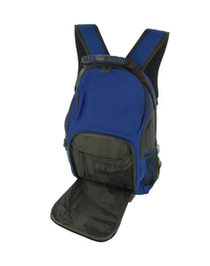 Bulk Buys Home Decor Black Royal Blue Backpack with Pockets