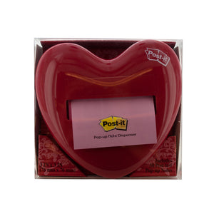 Heart-Shaped Post-It Note Pop-Up Dispenser - Pack of 3