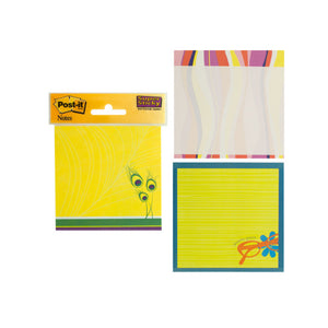 Bulk Buys Op641 Colorful Post-It Super Sticky Notes Set Pack Of 12