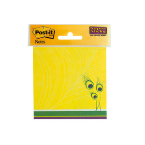 Bulk Buys Peacock Feathers Post-It Super Sticky Notes Pack Of 12