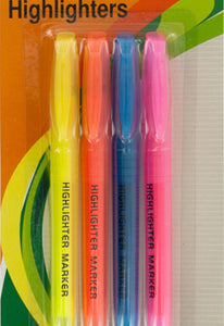 Bulk Buys Quick-Drying Chisel Tip Highlighters Set