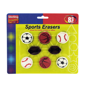Kole Imports Sports themed erasers (OS017)