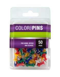 Bulk Buys Home Decor Colored Push Pins Set - 24 Pack