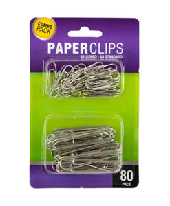 Bulk Buys Home Decor Standard Jumbo Paper Clips Set - 24 Pack