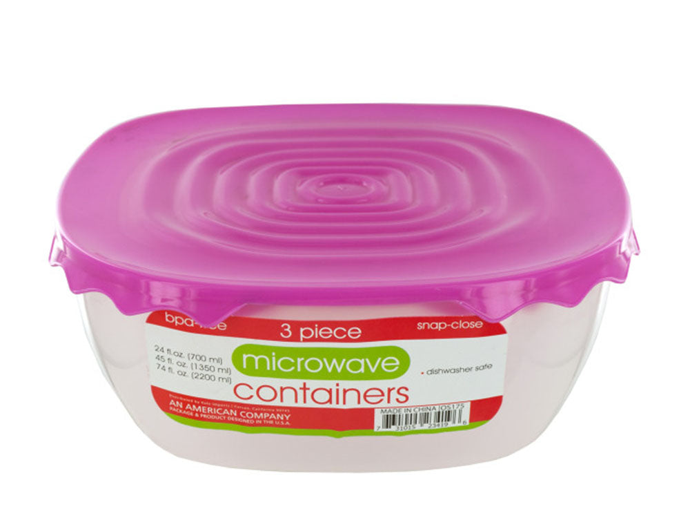 Microwave Food Containers Set - Pack of 12
