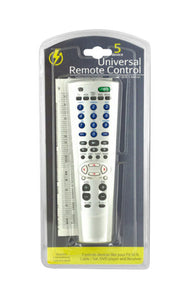 5 Device Universal Remote Control - Pack of 8