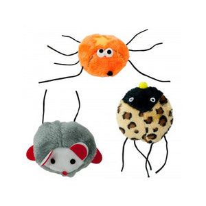 Vibrating Plush Cat Toy - Pack of 12