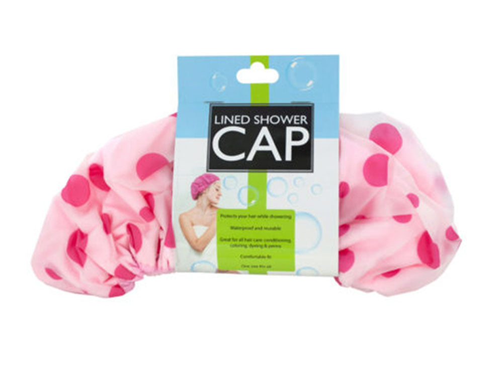 Microfiber Lined Shower Cap - Pack of 8