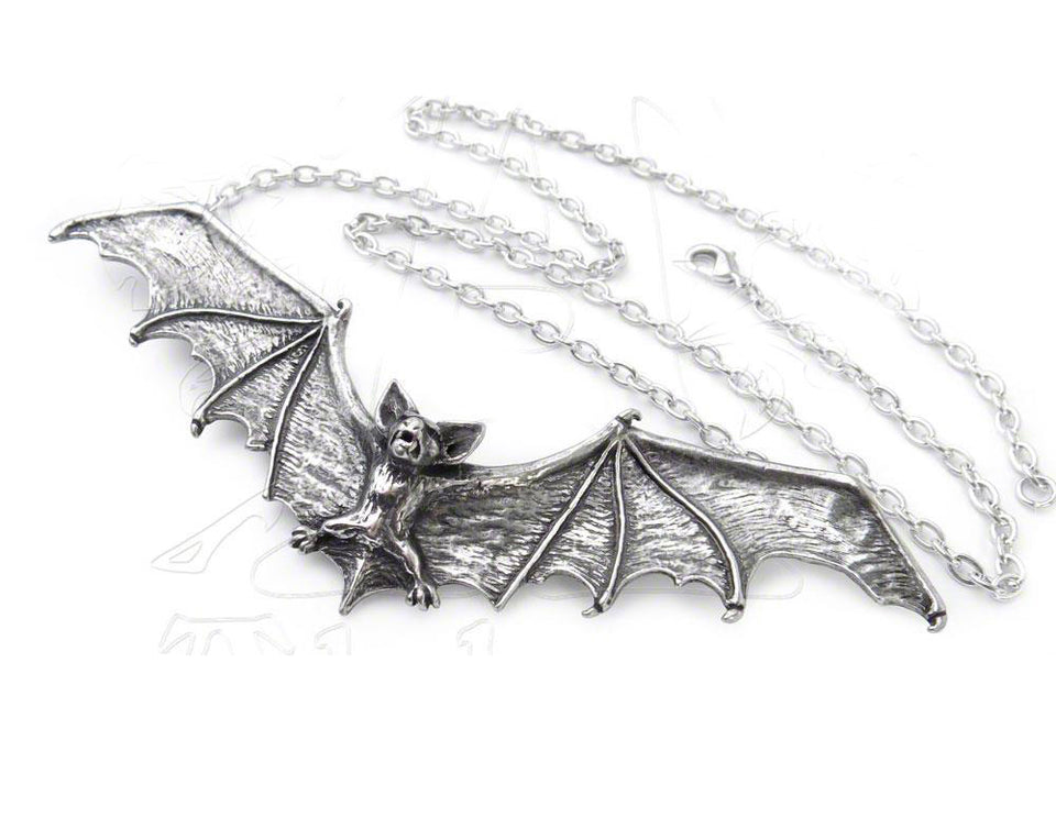 Alchemy Halloween Party Holiday Occasion Fashion Jewelry Gothic Bat Necklace