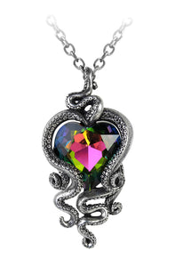 Alchemy Gothic Heart of Cthulhu Tentacles Pendant Jewelry Women Necklace