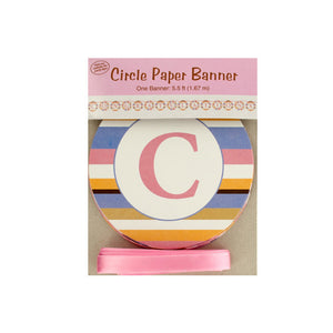 Bulk Buys Party Supplies 5.5 Ft Tiny Toes Circle Paper Banner 18 Pack