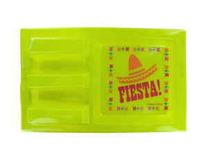 Bulk Buys Party Decorative Fiesta Taco Holder Party Tray - 24 Pack