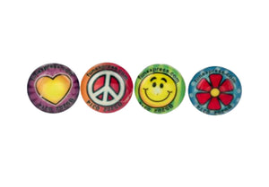 Bulk Buys Peace Love Dome Rings Party Favors - 24 Pack
