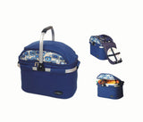 Picnic & beyond Outdoor Travel  Aluminum Framed Picnic Cooler Basket For 4 Persons - PB9-1001-Blue