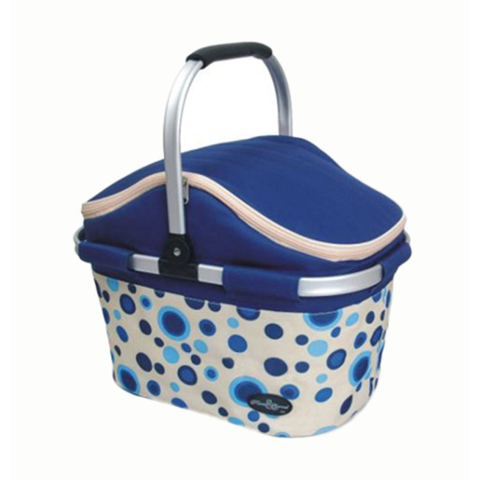 Aluminum Framed Picnic Cooler Basket - Blue