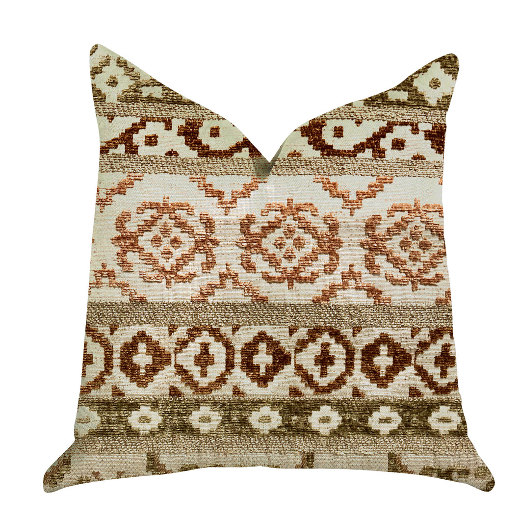 Plutus Brands Arabesque Shades Double Sided Queen Luxury Throw Pillow, 20