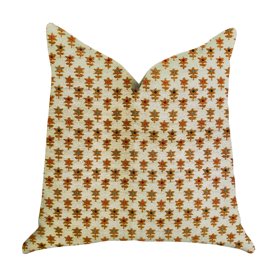 Plutus Brands Rosy Posse Double Sided Queen Luxury Throw Pillow, 20